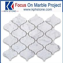 Carrara White Arabesque Marble Mosaic