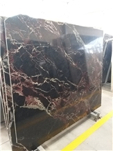 Red-Bordeaux Marble Slabs