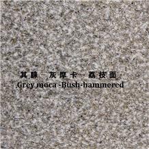 Grey Mocha Marble Brush Hammered Surface