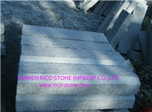 G603 Grey Granite Kerbstones Flamed