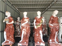 Stone Sculpture, Red Marble Sculpture