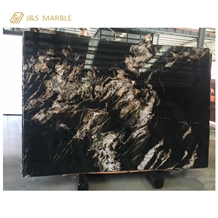 Africa Imported Black Galaxy Marble Slab