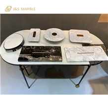 Embed Table Make with Marble and Material