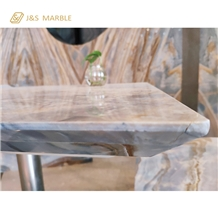 One Set Of Marble Table and Chairs