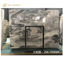 Polished Grey Color Yinxun Palissandro Marble