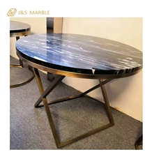 Simple Black Table Make Marble and Material