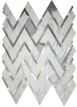 Herringbone Marble Mosaic Tile