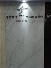 Milan White Marble Slabs, Tiles