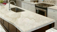 Symphony Cream Marble Kitchen Counter Tops