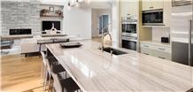 White Macaubas Quartzite Kitchen Countertop