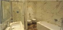 Statuario Venato Marble Bathroom Design