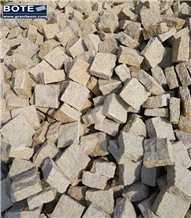 Granite Cobblestone G682 Yellow Cobblestone Cube