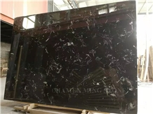Night Snow Portoro Black Marble Slabs,China Nero Feathers Marble New Arrival