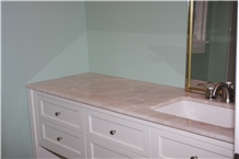Pink Onyx Vanity Top Bathroom Decor,Alabaster Stone Bath Top