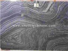 Antique Black/Ancient Wood Grain Marble Slab&Tile