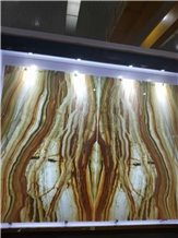 Rainbow Onyx Slabs Tiles Backlit Panels