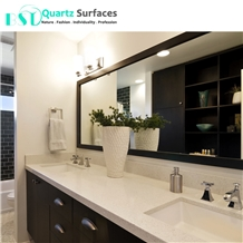 Manufactured White Quartz Bathroom Countertops
