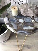 Semi Precious Grey Agate Slabs Stone