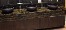 Tiger Eye Semi Precious Stone Commercial Bath Tops