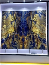 Transparent Big Blue Sodalite Slabs,Granite Tiles & Slabs