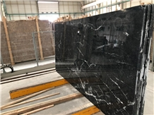 Turkish Black Marquina Marble Slabs