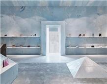 Azul Cielo Sky Blue White Marble Slabs Floor Tiles