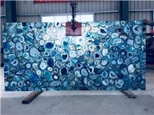 Best Price Translucent Blue Agate Gemstone Slabs