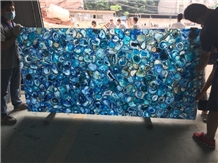 China Cheap Price Backlit Blue Agate Stone Slabs
