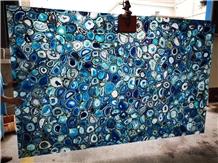 Factory Good Quality Blue Agate Gemstone Slabs