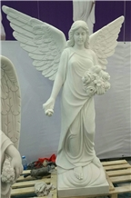 Angel Statue Angel Sculpture White Marble Statue