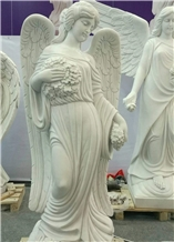 White Marble Angel Statue Angel Sculptures