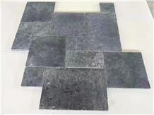China Black Limestone French Pattern Paving Tiles