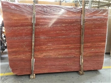 Red Travertine Slabs & Tiles