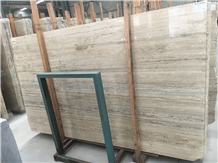 Silver Travertine Slab,Travertino Striato Silver