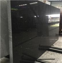 Crystal Black Engineered Quartz Stone Slab