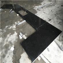Crystal Black Quartz Countertop