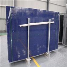 Crystal Blue Engineered Quartz Stone Slab