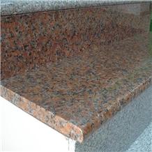 Maple Leaf Red Granite Stairs