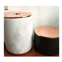 China Wholesaler White Onyx Candle Jar
