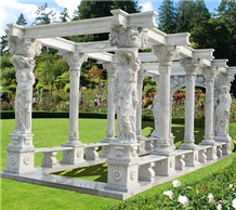 Cheap Price Stock Marble Garden Gazebo