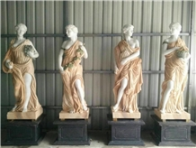 Marble Life Size Four Seasons Angel Sculpture