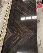 New Elegant Brown Granite Vein Cut Cross Cut