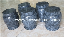 Chinese Grey Marble Stone Funeral Urns for Ashes
