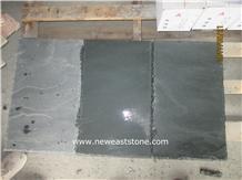 Dark Grey Green Slate Flooring Tiles Wholesales