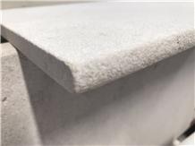 China Polar White Travertine Sandblasted Tiles