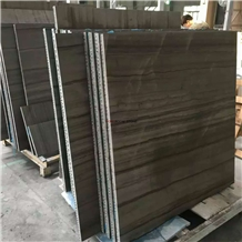 Light Weight Thin Coffee Brown Veins Marble Price