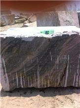 Ash Grey Granite Block Stone Quarry Big Raw