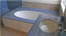 Azul Macaubas Blue Color Countertops Bathroom