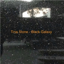 Black Galaxy Granite Stone Slabs Tiles Floor Wall