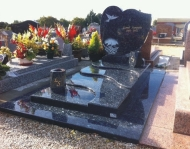 Black Granite Monuments Memorial Decoration